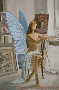 _La modella_ olio e acrilico su tela 40 x 60 cm (D)(S)_farina