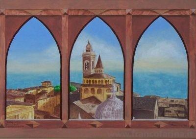 Bergamo alta vista dal campanone
