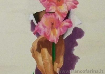 Dalla tela nasce un fiore