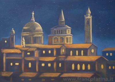 Cielo stellato su Bergamo
