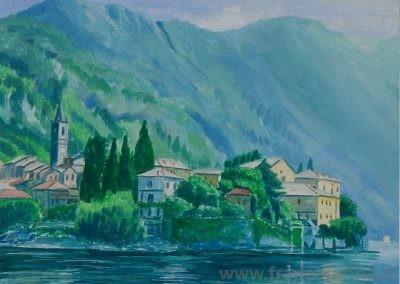 Varenna vista dal Lago. (Lago di Como)