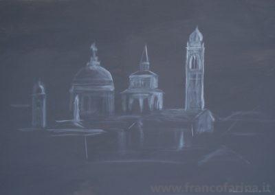 Bergamo alta in grigio