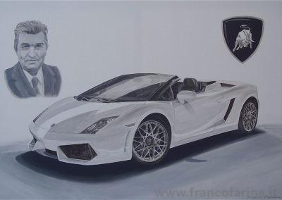 Lamborghini e ritratto di Ferruccio Lamborghini