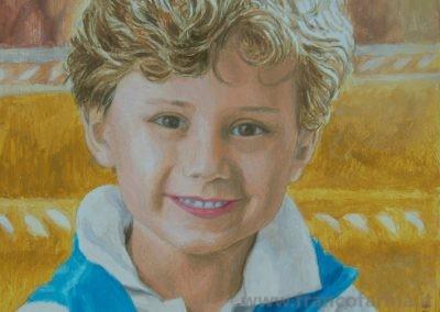 Ritratto di bimbo in luce dorata