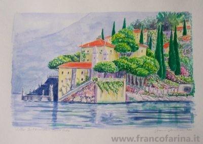 Villa Balbianello sul lago di Como (Acquarello)